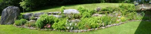 Panoramic shot of rock garden