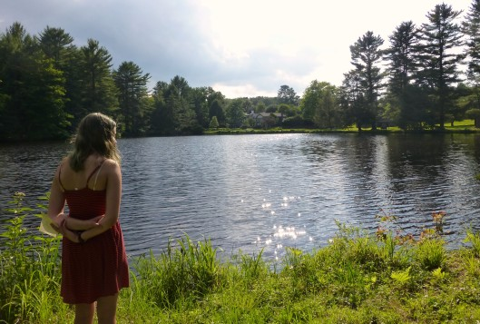 Girl overlooking Trout Lake
